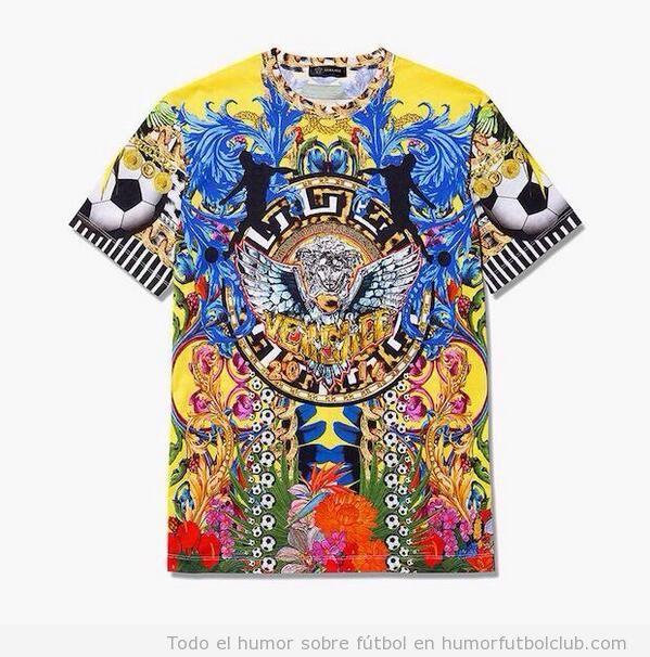 Camiseta Versace Mundial Brasil
