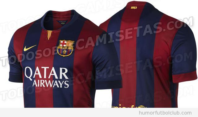 Nueva equipación, Camiseta Barça temporada 2014-2015