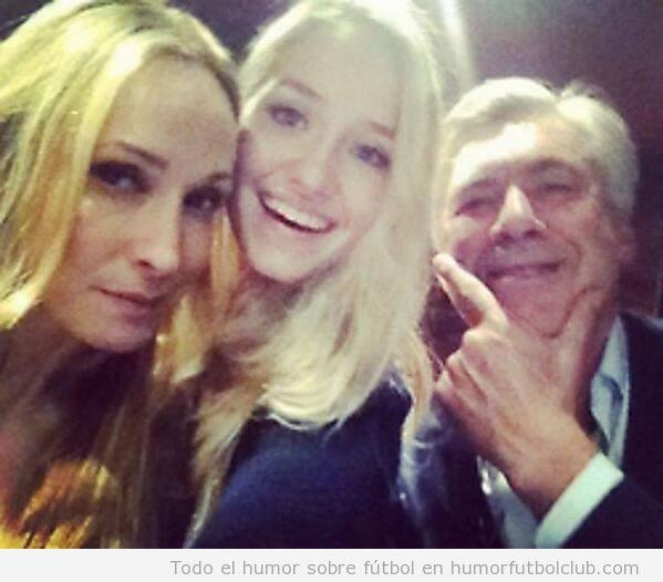 Selfie Ancelotti novia e hija