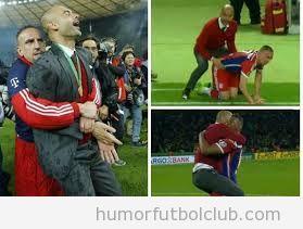 Fotos graciosas de momentos íntimos de Guardiola y Ribéry