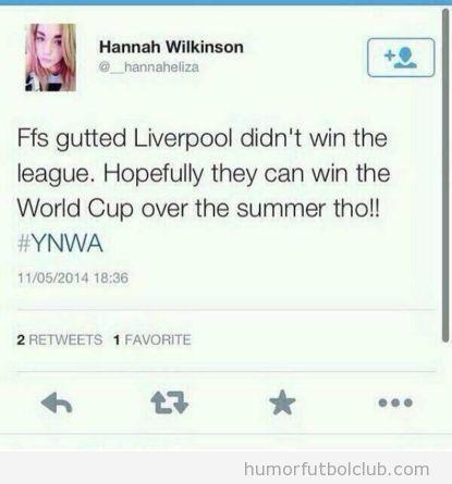 Tweets graciosos de chicas sin idea de fútbol 2