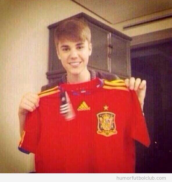 Justin Bieber camiseta España