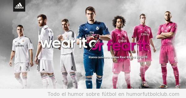 Segunda equipación Real Madrid color rosa