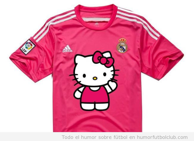 Meme Hello Kitty, Segunda equipación Real Madrid color rosa