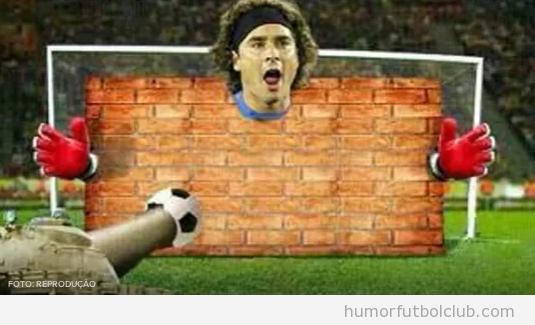 Memes graciosos portero de MExico ante Brasil, Mundial Brasil 2014