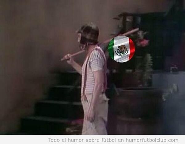 memes graciosos Chavo del 8 y eliminación México Mundial Brasil 2014