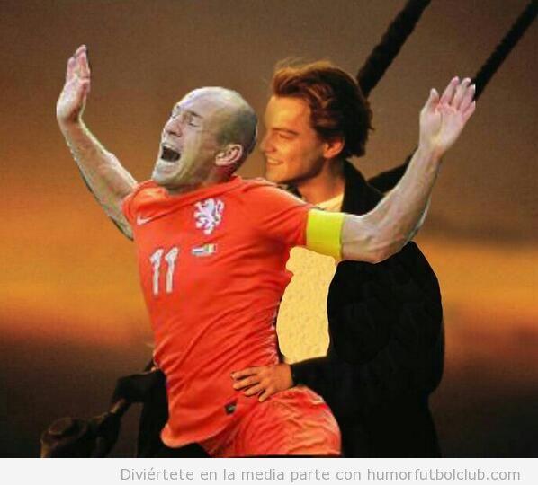 Memes graciosos piscinazo Robben en Holanda-Mexico, Mundial Brasil 2