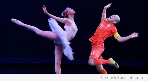 Memes graciosos piscinazo Robben en Holanda-Mexico, Mundial Brasil 3