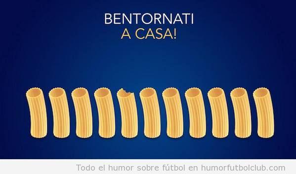 Anuncio divertido de una marca de pasta con la selección italiana