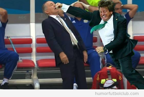 Memes graciosos del entrenador de argentina en el partido vs Bélgica en Mundial fútbol 14