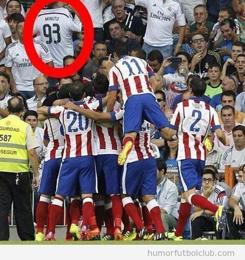 Aficionado Real Madrid Camiseta minuto 93 vs Atlético Madrid
