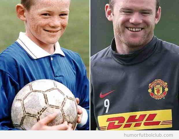 Foto graciosa Wayne Rooney de pequeño