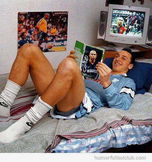 Foto graciosa Zlatan Ibrahimovic de joven