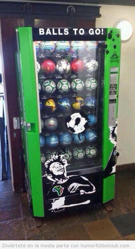 Máquina expendedora de balones de fútbol