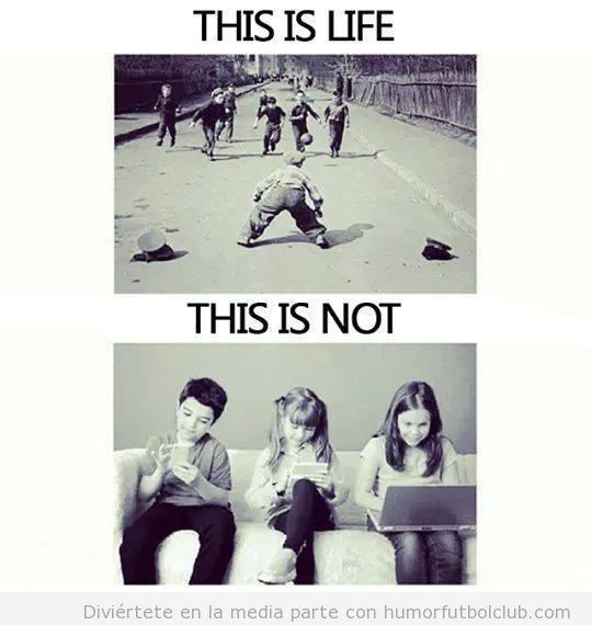 Meme fútbol en la calle vs tecnología en niños