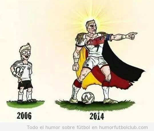 Viñeta graciosa Bastian Schweinsteiger, nuevo capitán Alemania