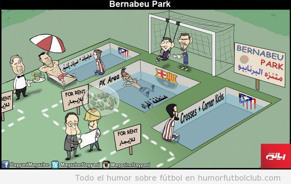 Viñeta graciosa Real Madrid, Bernabeu Park