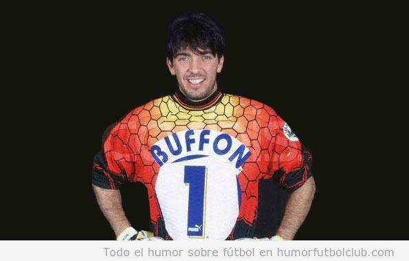 Foto del Debut Buffon con selección italiana en 1997
