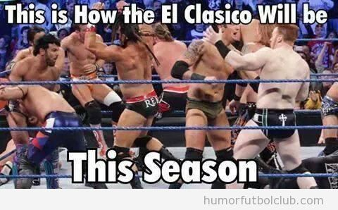 Meme gracioso El Clásico Lucha libre