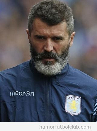 Roy Keane barba, parecido Hussein