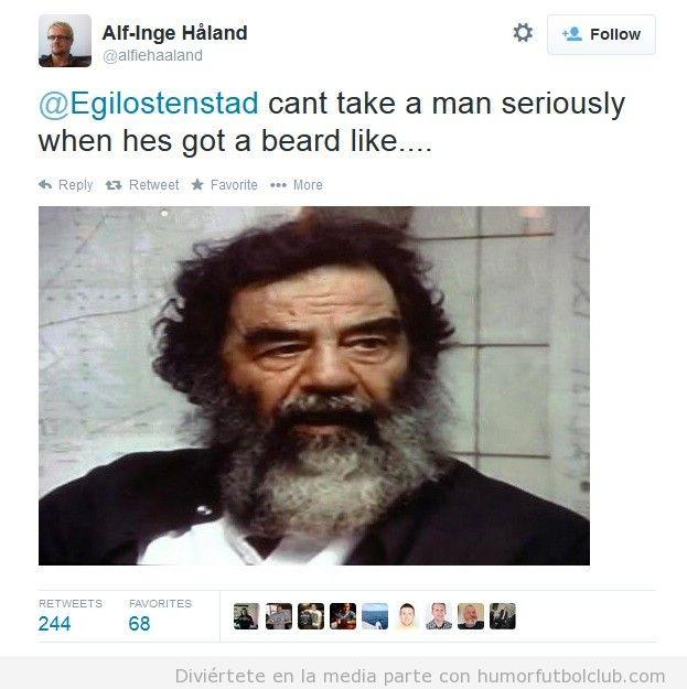 Parecido razonable Roy Keane y Saddam Hussein