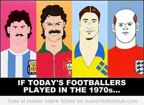 Ilustración deportistas actuales con el look de los 70