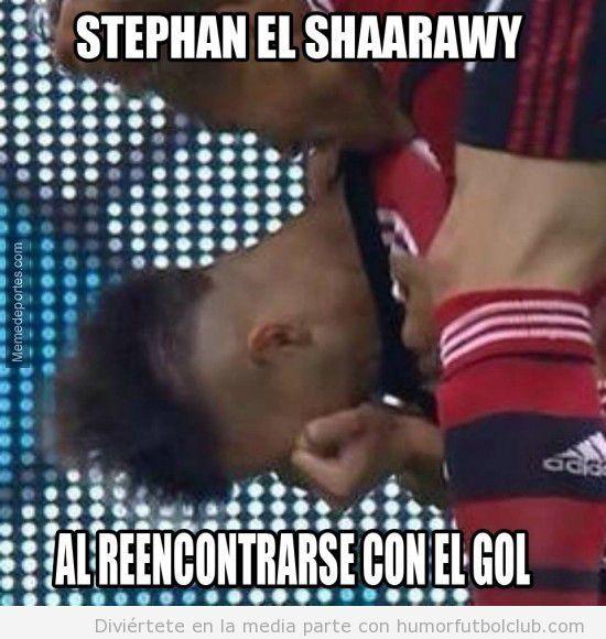 El shaarawy llorando tras marcar gol