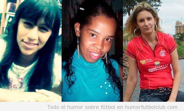 Chicas con parecido razonable con Messi, Ronaldinho y Neymar