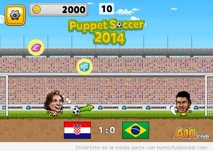 videojuego online puppet soccer 2014