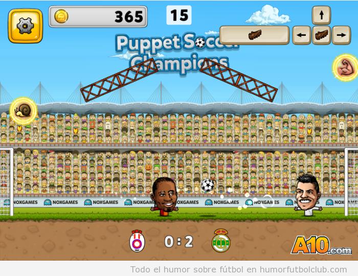 videojuego online puppet soccer champions