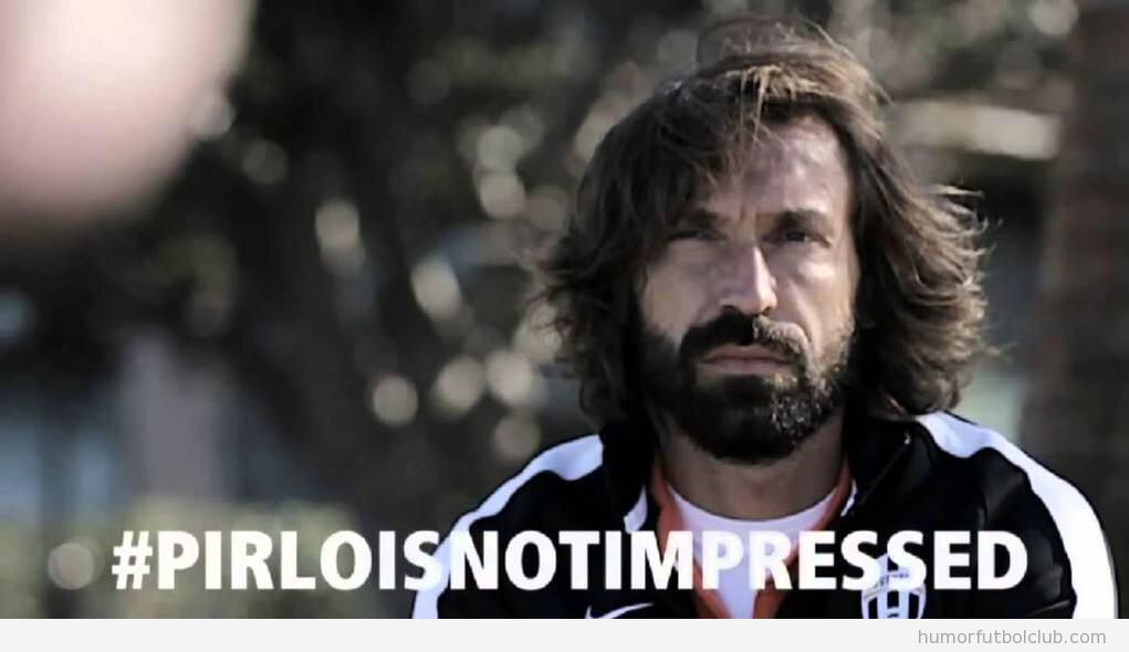 Meme gracioso fútbol, Pirlo is not impressed