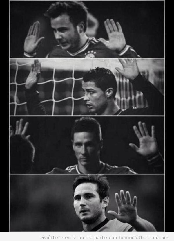 Foto graciosa futbolistas cuando marcan ante su ex equipo