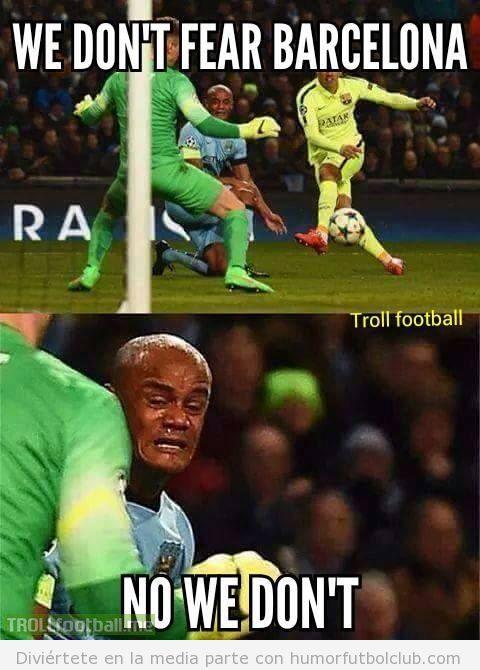 Foto graciosa defensa del Chelsea vs Barça