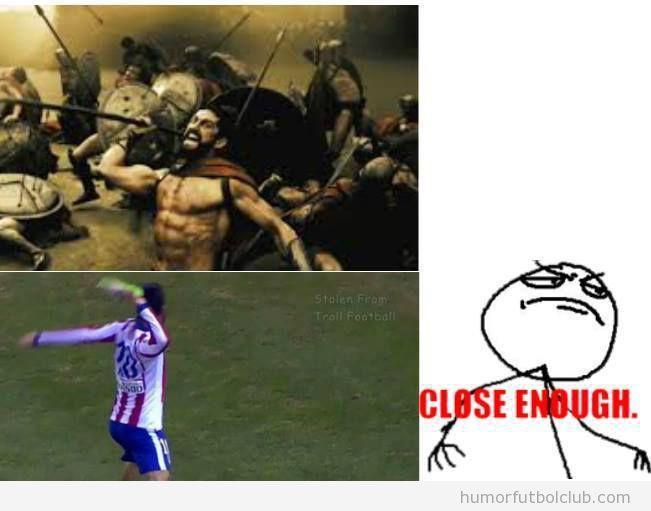 Meme gracioso Arda Turan zapato, This is Sparta