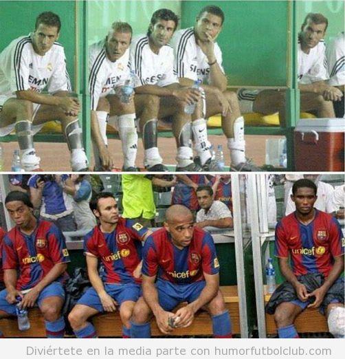 Banquillo Real Madrid y Barça lleno de estrellas