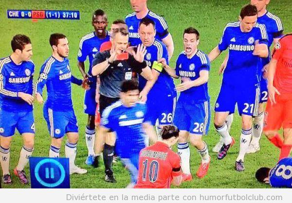 Reacción tarjeta roja Zlatan Ibrahimovic