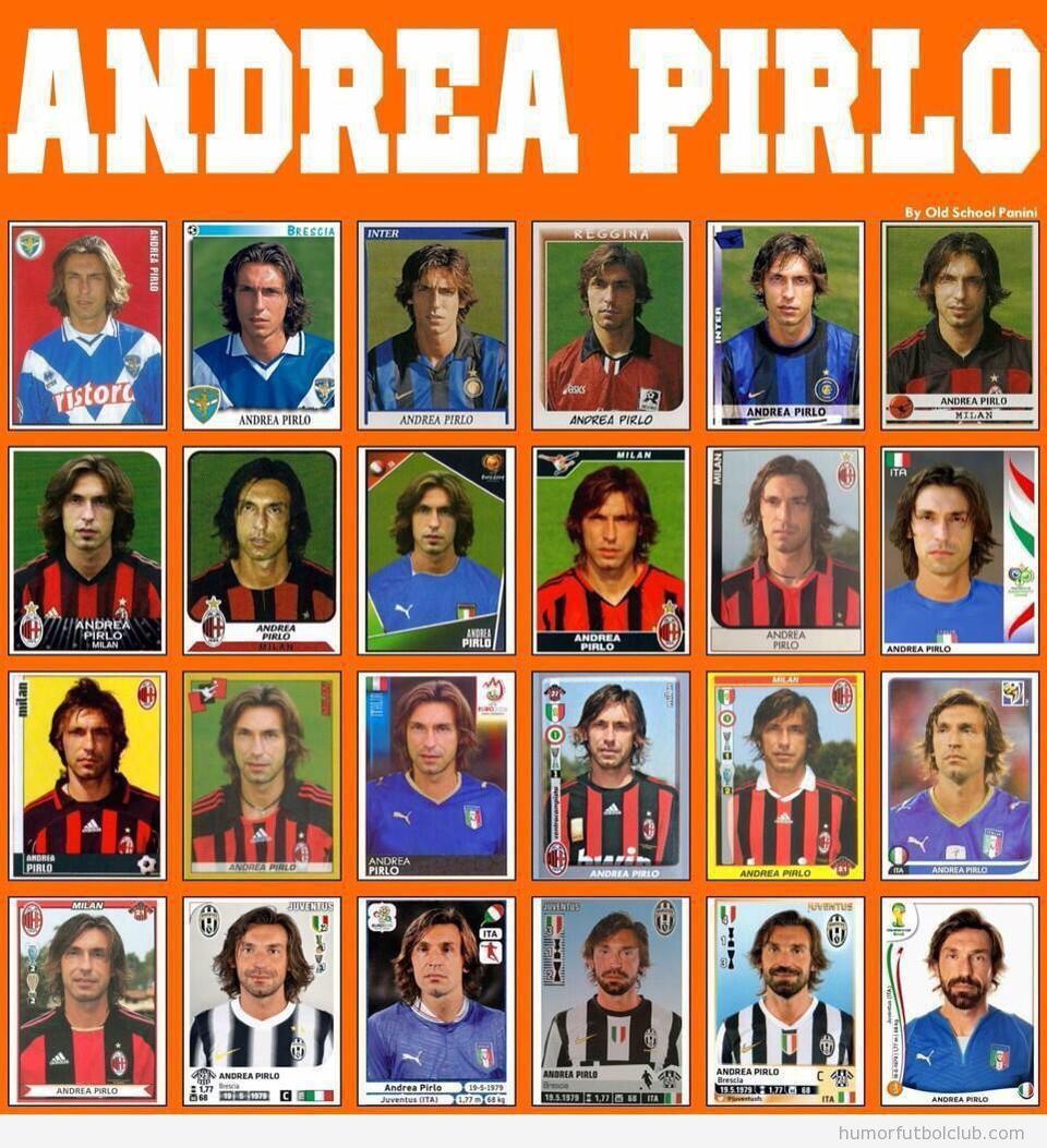 Colección de cromos de Andrea Pirlo