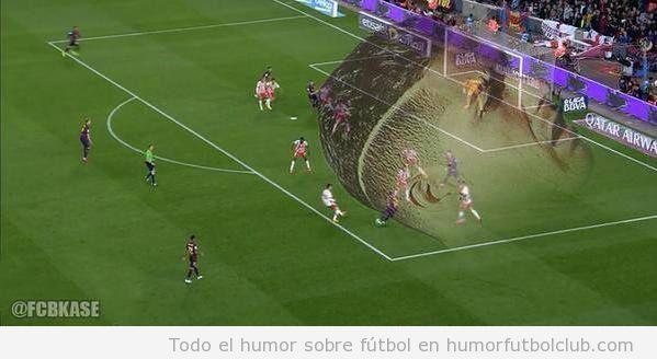Meme gracioso peinado Cristiano Ronaldo y el gol de Messi