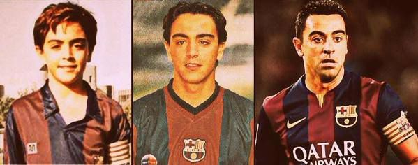 Fotos de la historia de Xavi en el Barça desde pequeño