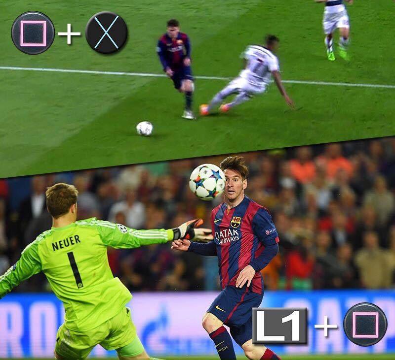 Meme gracioso, jugada Messi y Neuer en FIFA