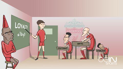 Viñeta graciosa fútbol, Gerrard en el Liverpool