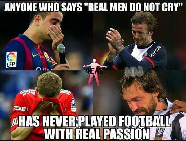 Fotos de futbolistas llorando