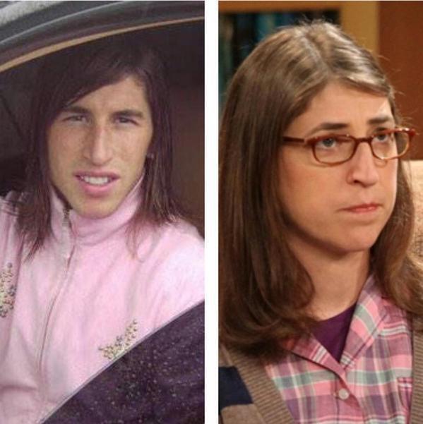 Parecido razonable Sergio Ramos y Amy de The Big Bang Theory