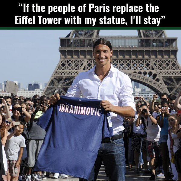 Meme gracioso Zlatan Ibrahimovic sobre quedarse en el PSG