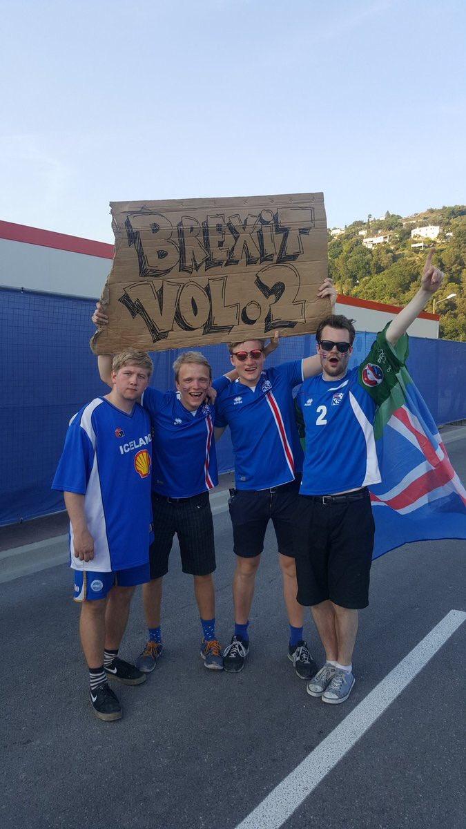 Brexit volumen 2, fans islandia trollean Inglaterra en eurocopa 2016