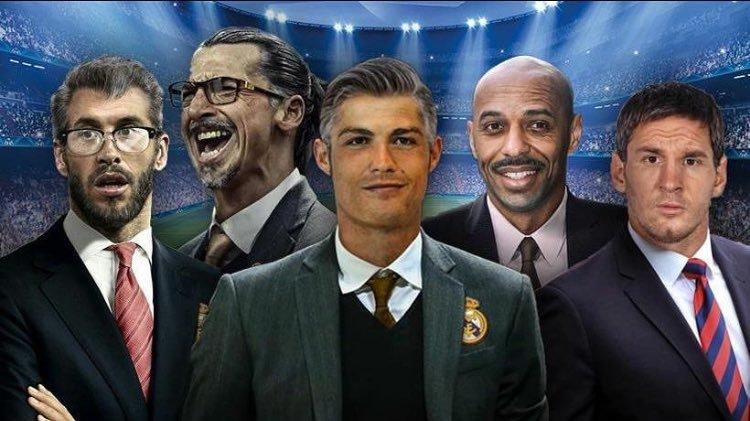 Fotomontaje jugadores de mayor como entrenadores