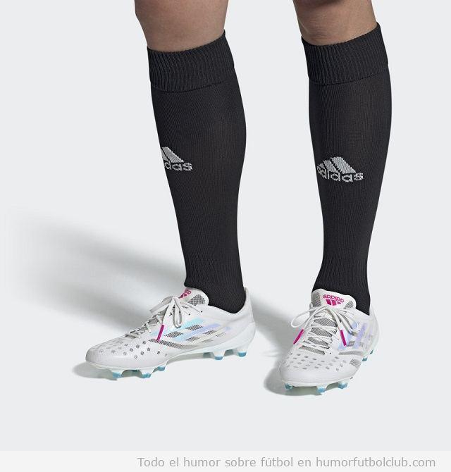 Adidas X 99.1 blanco, rosa y cian